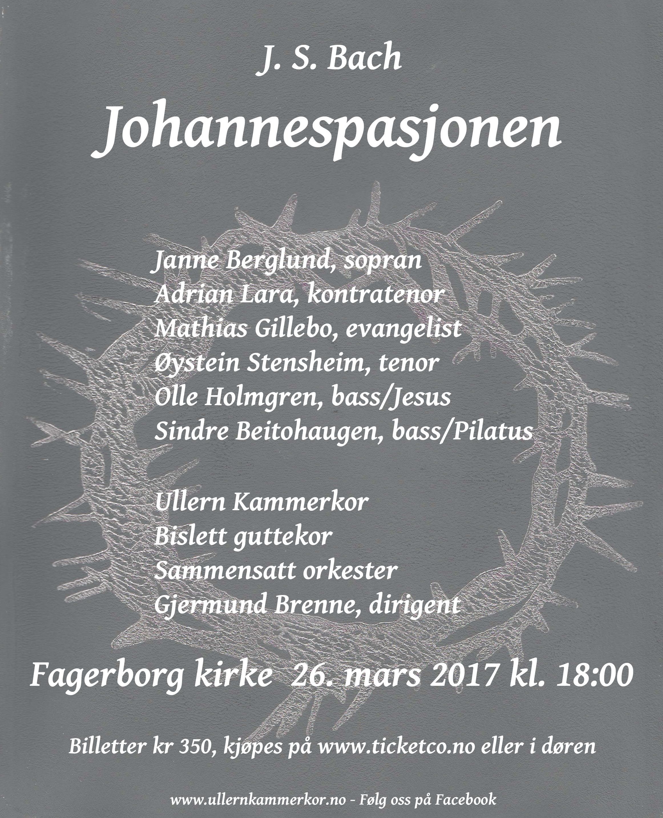 Bach Johannespasjonen Plakatsiste